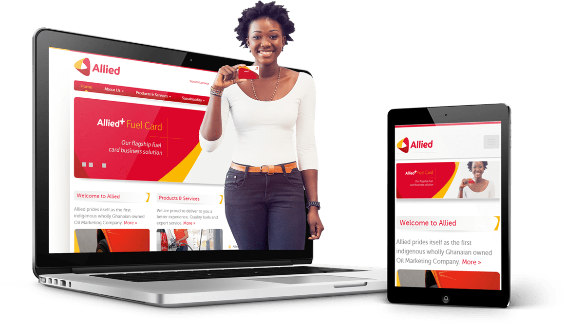 Website design for an indigenous Ghanaian Oil marketing