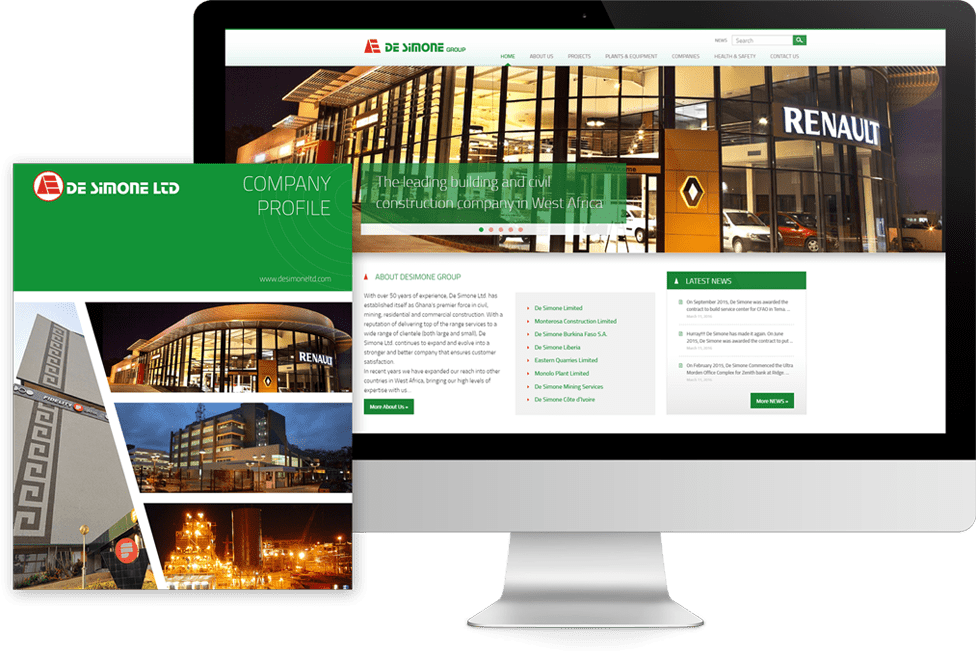 Responsive Web Design for a leading construction company in West